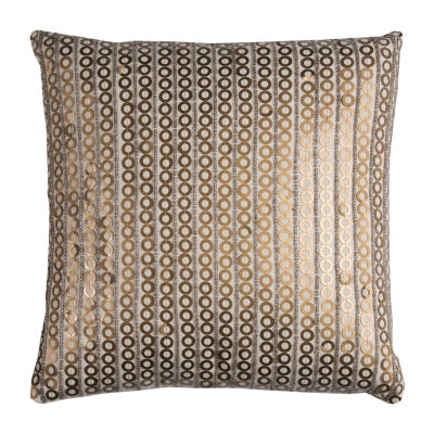 Rizzy Home Archie Medal Disc Shows As Stripe Decorative Pillow