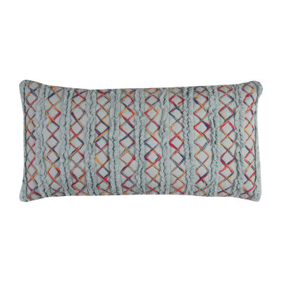 Rizzy Home Isa Textured Stitching Shows As A Stripe Decorative Pillow