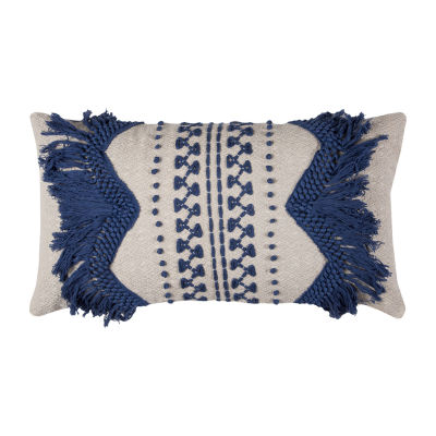 Rizzy Home Anastasia Zig-Zag Stripe Decorative Pillow
