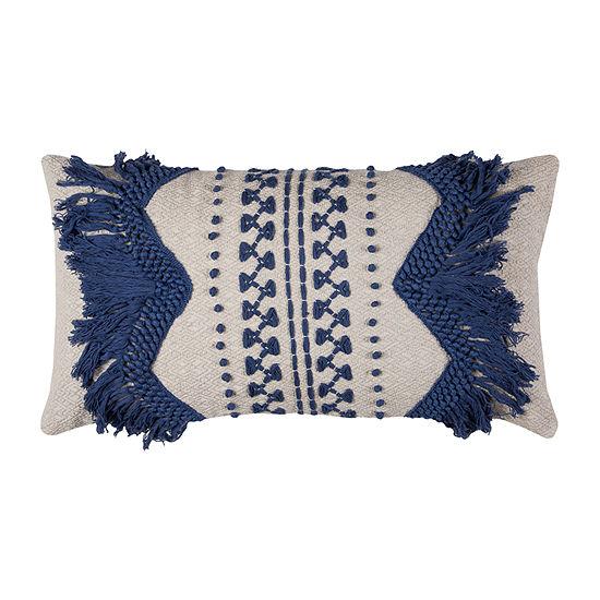Rizzy Home Anastasia Zig Zag Stripe Decorative Pillow
