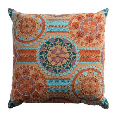 Rizzy Home Alyssa Medallions Linked  Decorative Pillow