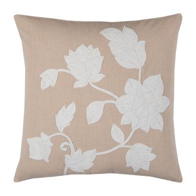 Rizzy Home Megan Floral Decorative Pillow