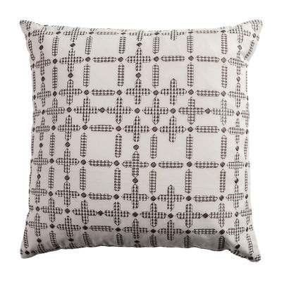 Rizzy Home Drew Tribal Embroidered Pattern Decorative Pillow