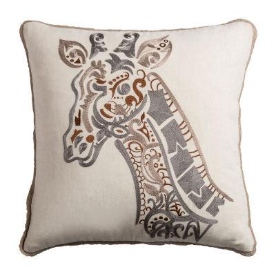 Rizzy Home Alanna Giraffe Decorative Pillow