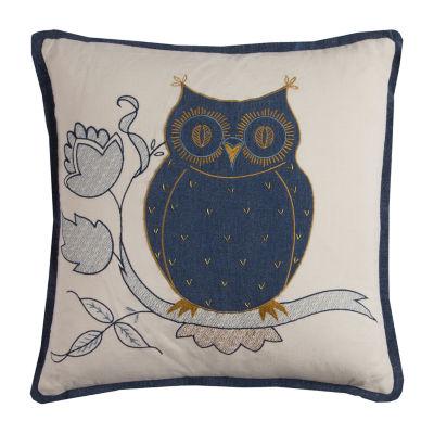 Rizzy Home Odelia Owl Textural Decorative Pillow