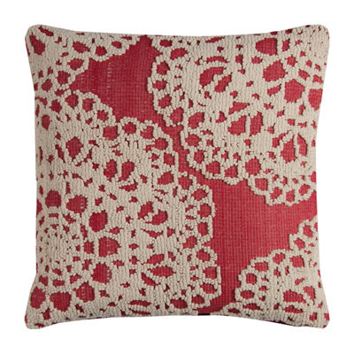 Rizzy Home Cain Medallion Embroidered Textural Decorative Pillow