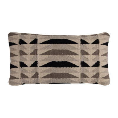 Rizzy Home Giovanna Diamond Motifs Shows As A Stripe Decorative Pillow