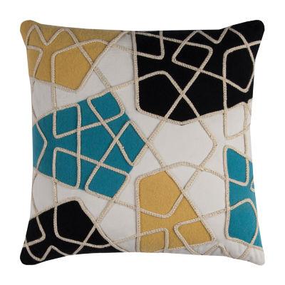 Rizzy Home Julia Color Block Prisms Decorative Pillow
