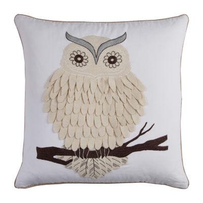 Rizzy Home Martin Owl Decorative Pillow