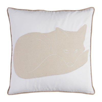 Rizzy Home Paul Snow Fox Decorative Pillow