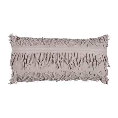 Rizzy Home Reginna Textured With Fringe DecorativePillow