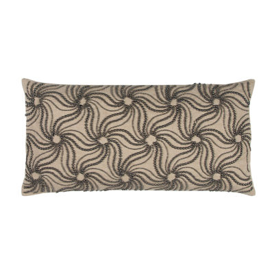 Rizzy Home Renata Abstract Floral Decorative Pillow