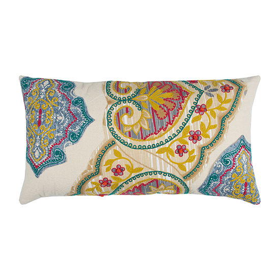 Rizzy Home Lindsey Floral Decorative Pillow
