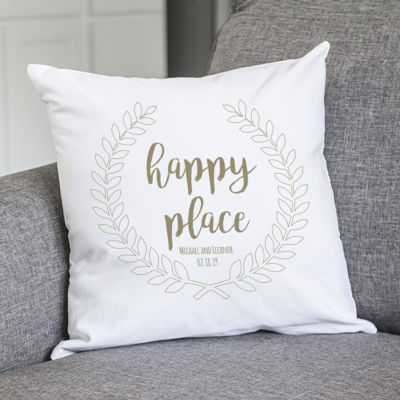 Cathy's Concepts Personalized Happy Place Pillow