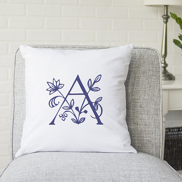 Cathy's Concepts Personalized Initial Pillow