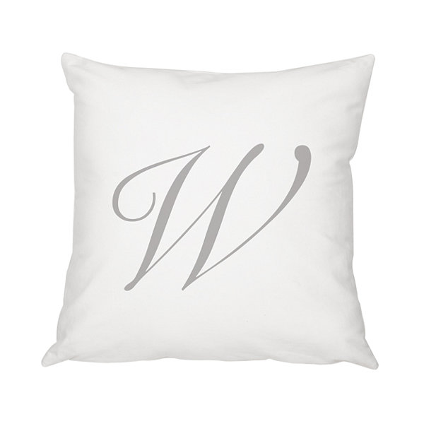 Cathy's Concepts Personalized Script Initial Pillow