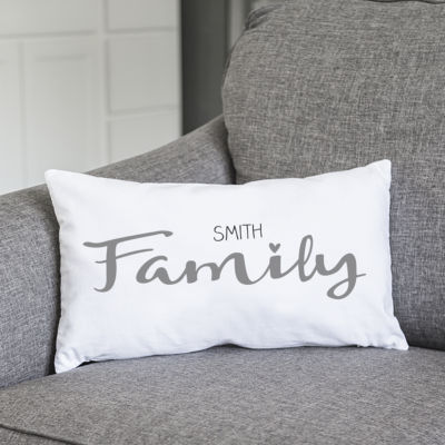 Cathy's Concepts Personalized Family Lumbar Pillow