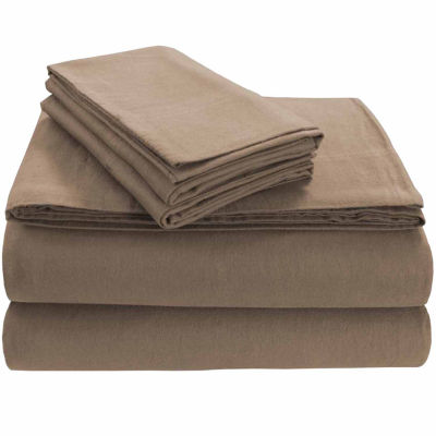Tribeca Living Heavyweight Solid Flannel Flannel Fitted Sheet