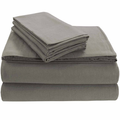 Tribeca Living Heavyweight Solid Flannel Flannel Flat Sheet