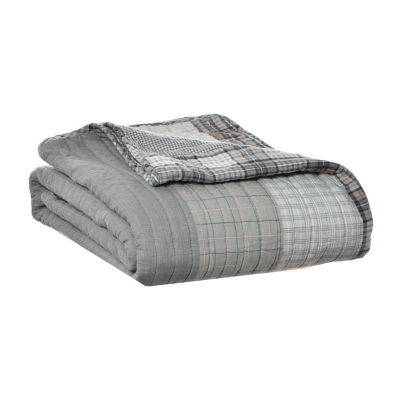 Eddie Bauer Fairview Gray 50X60 Throw