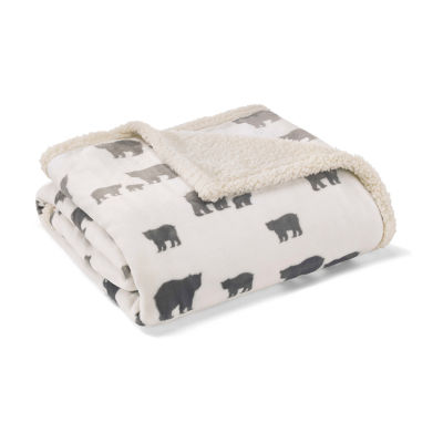 """Eddie Bauer Bear Village Ivory 50X60 Throw"