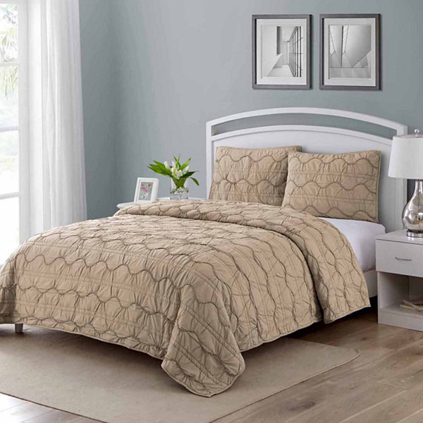 Wonder Home Burlington 3PC Cotton Printed Quilt Set