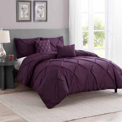 Wonder Home Hampton 5PC Pleated Comforter Set
