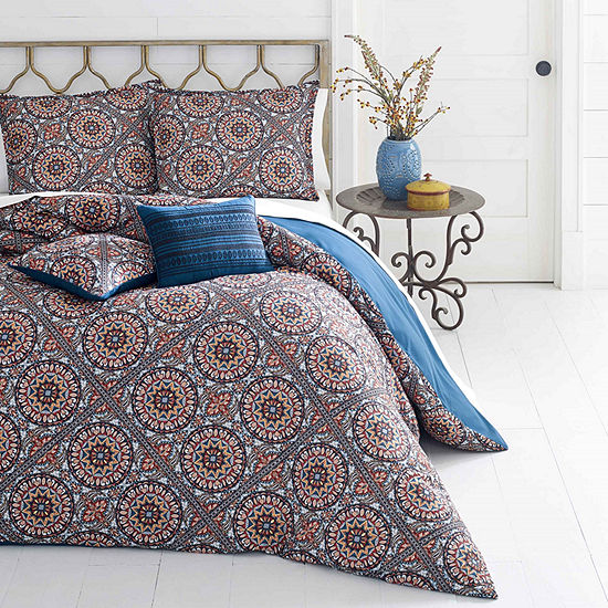 Azalea Skye Sitka Suzani Red Duvet Cover Set