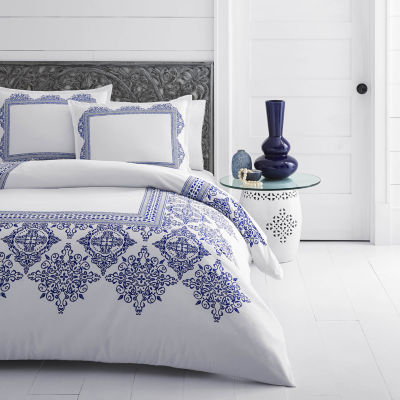 Azalea Skye Cora White Duvet Cover Set