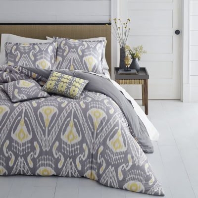 Azalea Skye Global Ikat Grey Comforter Set