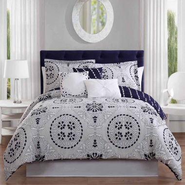 Studio 17 Bailey Reversible Microfiber 7-pc. Comforter Set