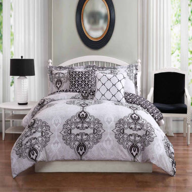 Studio 17 Celine Reversible Microfiber 5-pc. Comforter Set