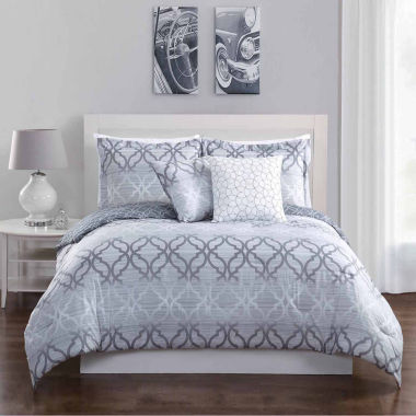 Studio 17 Chrissy Reversible Microfiber 5-pc. Comforter Set