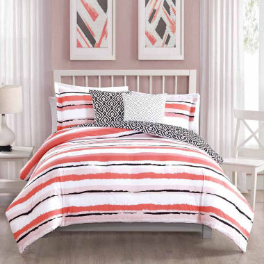 Studio 17 Colman Reversible Microfiber 5-pc. Comforter Set
