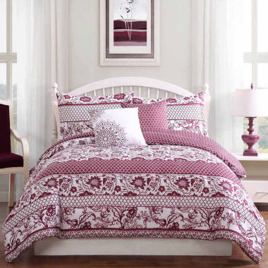 Studio 17 Paz Reversible Microfiber 5-pc. Comforter Set