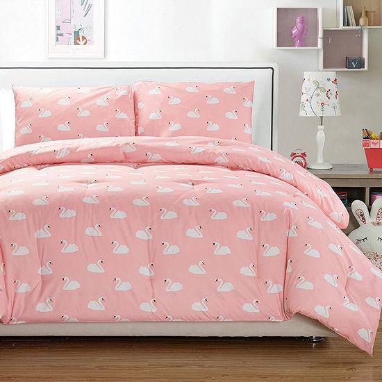 Lala+Bash Swans 3-pc. Reversible Comforter Set