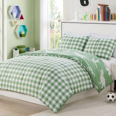 Lala+Bash Saurs 2-pc. Reversible Comforter Set