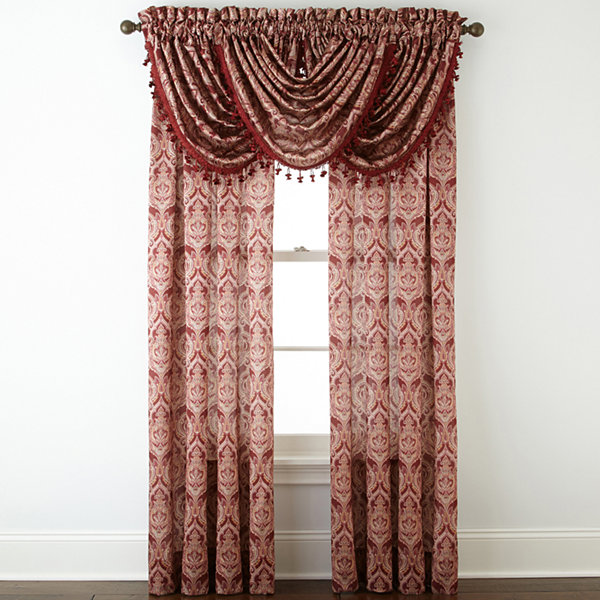 Royal Velvet® Hilton Damask Rod-Pocket Curtain Panel