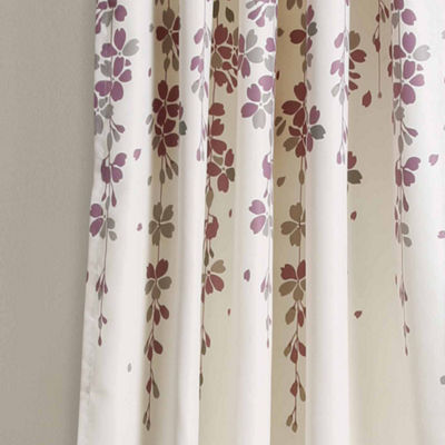Half Moon Weeping Flower Room Darkening 2-Pack Curtain Panels