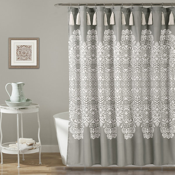 Lush Deor Boho Medallion Shower Curtain
