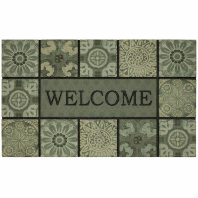 Mohawk Home Ocean Tiles Recycled Rubber Doormats