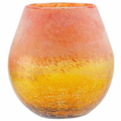 """5.5"""" Frosted Hand Blown Glass Vase"""
