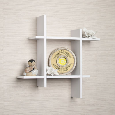 Danya B. Asymmetric Laminate Square Floating WallShelf