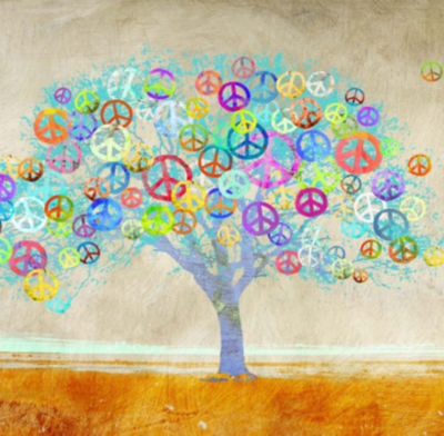 Metaverse Art Tree of Peace (detail) Gallery Wrap Canvas Wall Art
