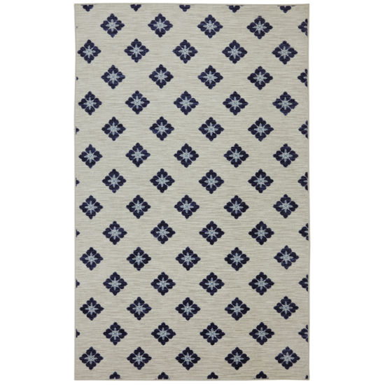 Mohawk Home Woodbridge Button Fleur Printed Rectangular Rugs