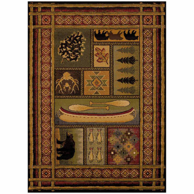 United Weavers Affinity Collection Lodge Canvas Rectangular Rug