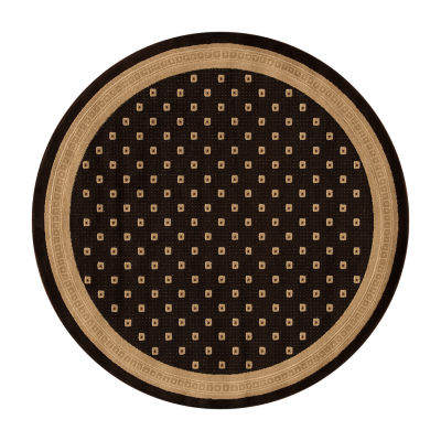 Concord Global Trading Jewel Collection Athens Round Area Rug