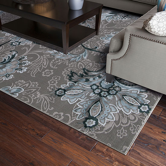 Concord Global Trading Thema Collection Jacobean Area Rug