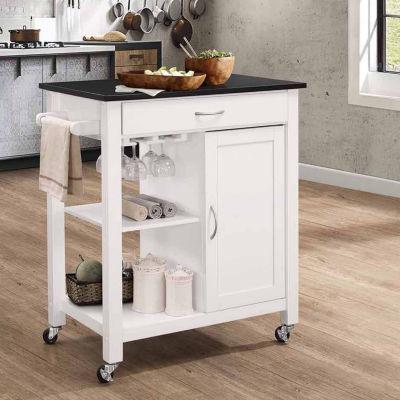 Ottawa Wood-Top Kitchen Cart