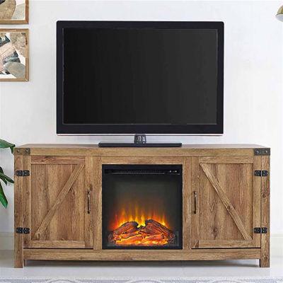 """58"""" Barn Door Fireplace TV Stand"""